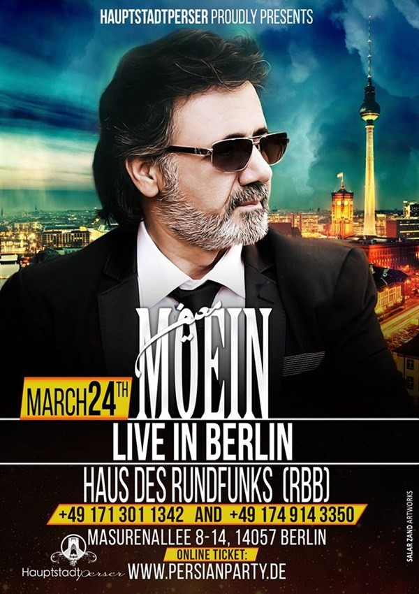 Get Information and buy tickets to MOEIN LIVE IN BERLIN  on www.persianparty.de