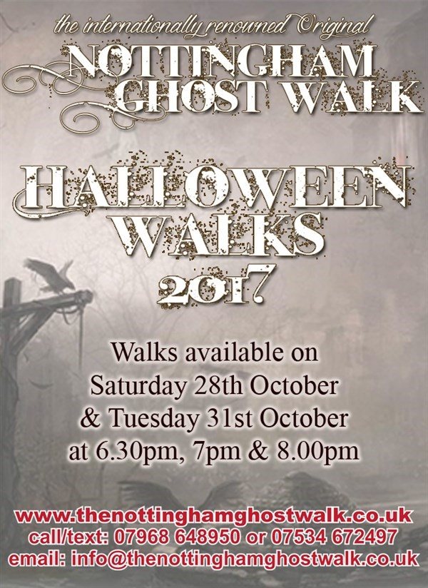 Get Information and buy tickets to Halloween Ghost Walk 7.30pm 31.10.17 on The Original Nottingham Ghost