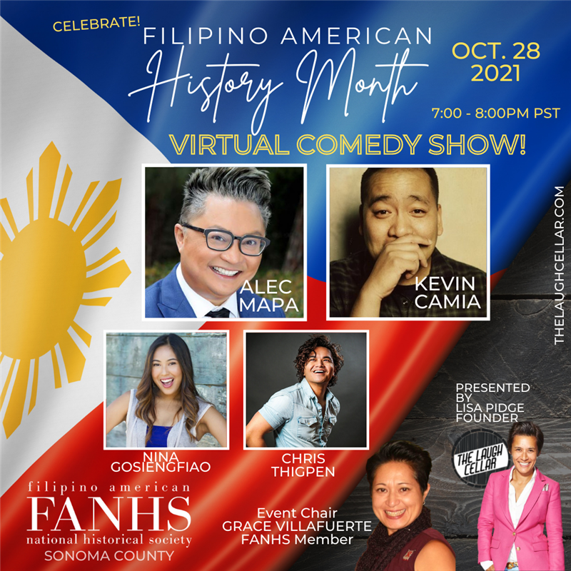 Get Information and buy tickets to Filipino American History Month Comedy Show Virtual on The Laugh Cellar