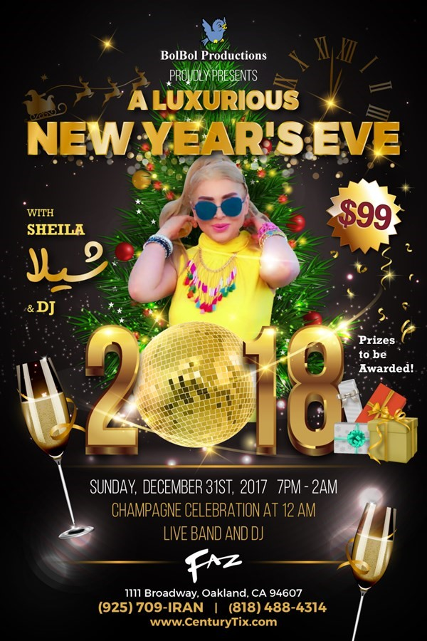 Get Information and buy tickets to 2018 New Year Party  on Century Tix