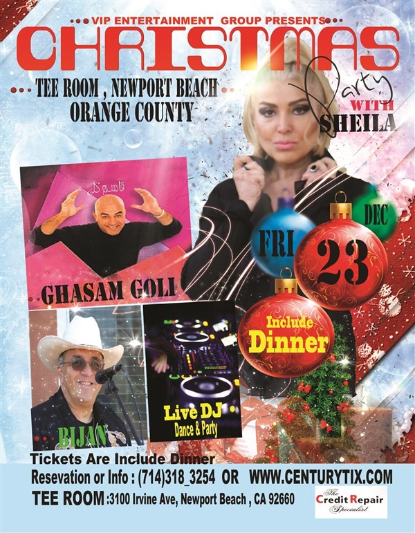 Get Information and buy tickets to Christmas Party With Sheila  on Century Tix