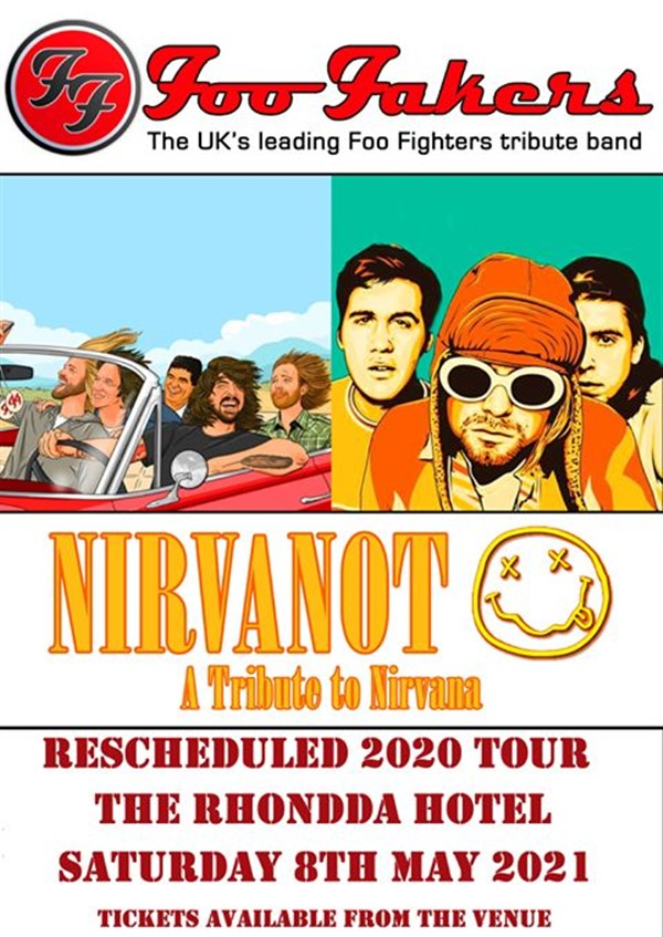 Get Information and buy tickets to Nirvanot and Foo Fakers  on www.rhonddahotel.com