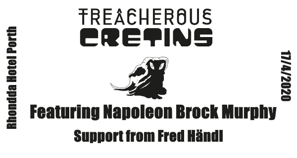 Get Information and buy tickets to Trecherous Cretins featuring Napoleon Murphy Brock with support from Fred Händl on www.rhonddahotel.com