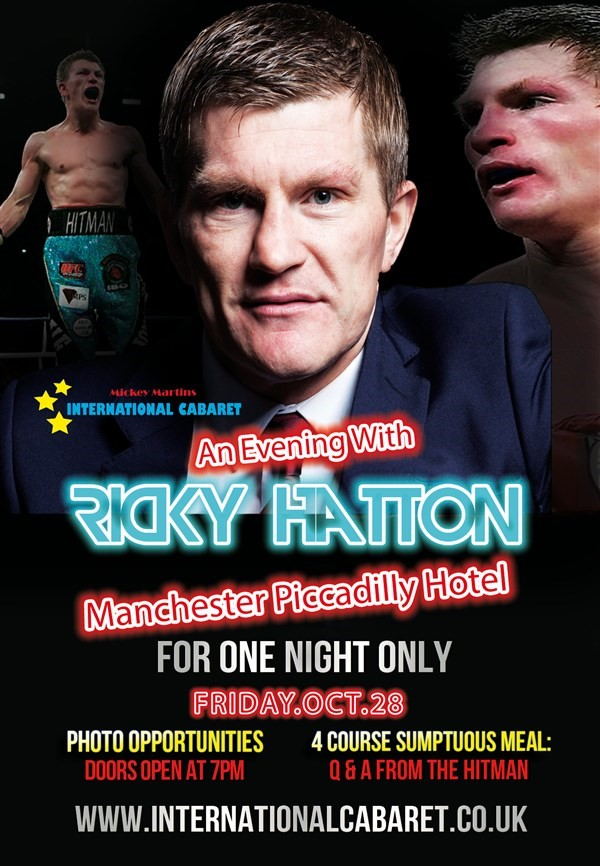 "Get Information and buy tickets to An Evening With Ricky ""Hitman"" Hatton  on Ticketpig"