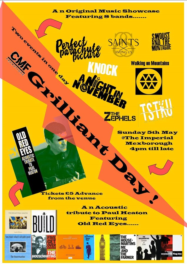 Get Information and buy tickets to CMF Grilliant Day  on Conisbrough Music Festival
