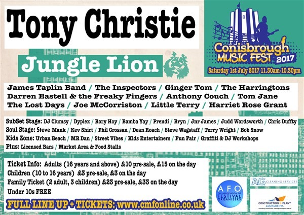 Get Information and buy tickets to CMF  2017 Conisbrough Music Festival on Conisbrough Music Festival