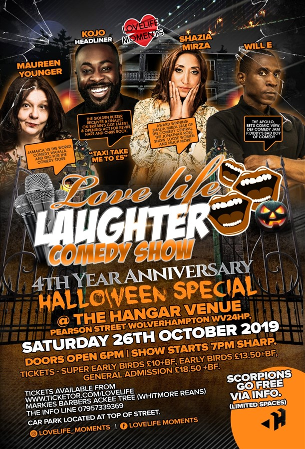 Get Information and buy tickets to LOVELIFE LAUGHTER HALLOWEEN SPECIAL on LoveLife Moments