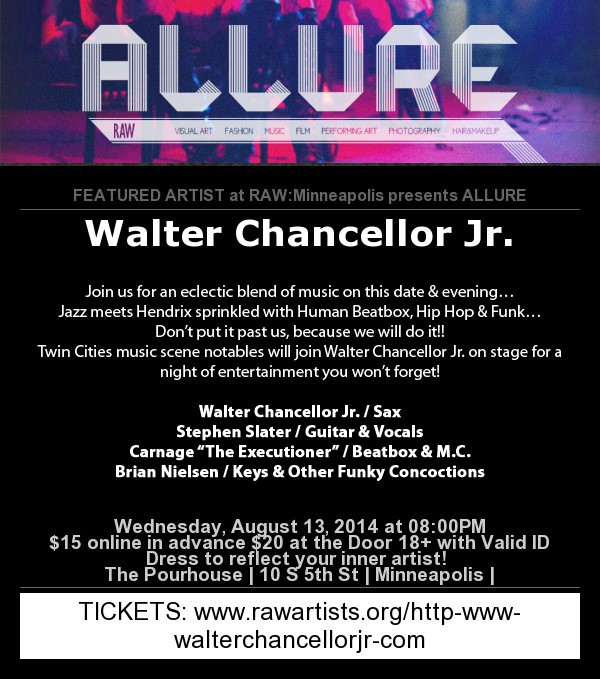 Get Information and buy tickets to ALLURE FT WALTER CHANCELLOR Jr. on Sophia
