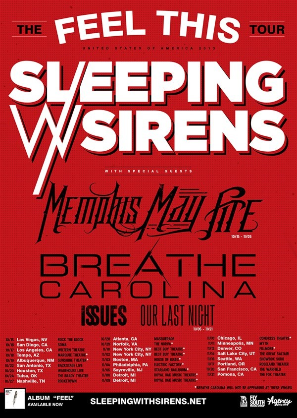 Get Information and buy tickets to The Feel This Tour  on Everything Sleeping with Sirens Tickets