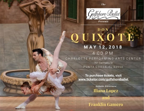 "Get Information and buy tickets to 2018 Spring Performance ""Don Quixote"" on Gulfshore Ballet"