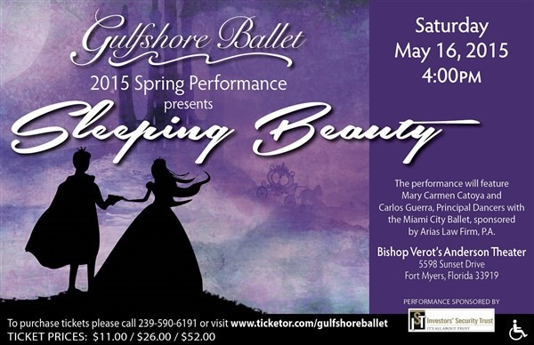 "Get Information and buy tickets to 2015 Spring Performance ""Sleeping Beauty"" on Gulfshore Ballet"