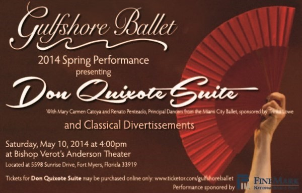 Get Information and buy tickets to Don Quixote Suite  on Gulfshore Ballet