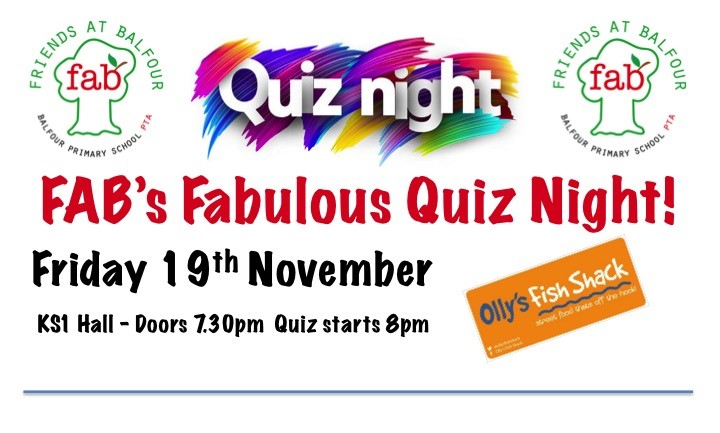 Get Information and buy tickets to Quiz Night 19th November 2021 on Friends At Balfour