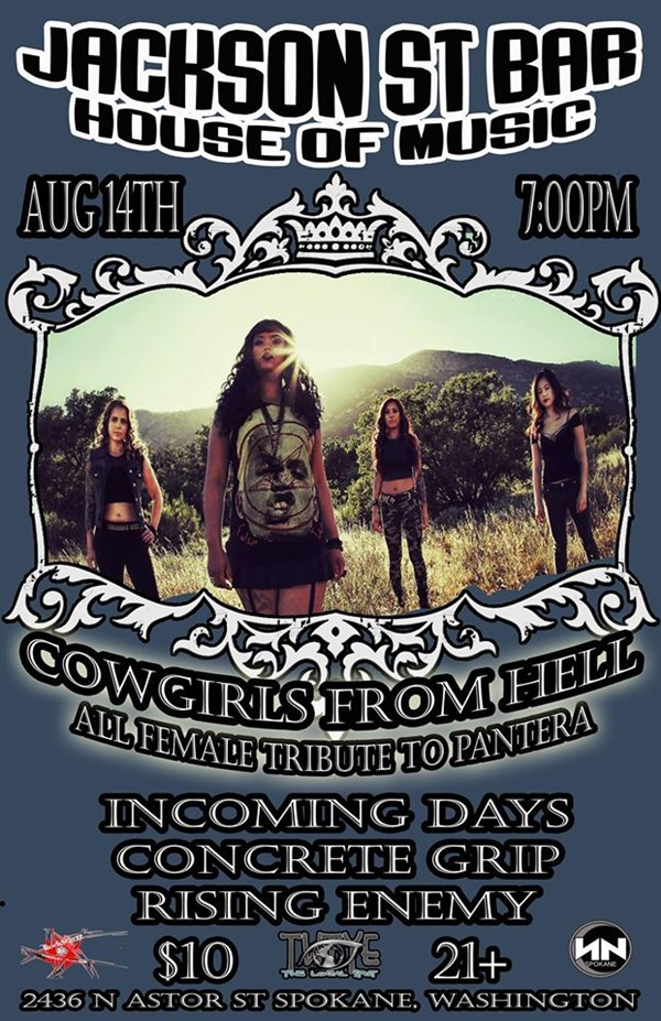 Get Information and buy tickets to Cowgirls From Hell All Female Pantera Tribute  on RockStarzz Hospitality Promo