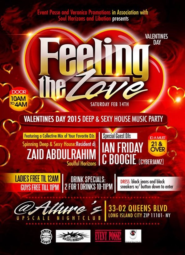 Get Information and buy tickets to Feeling the Love V Day 2015 DEEP & SEXY House Music Party  on Event Posse