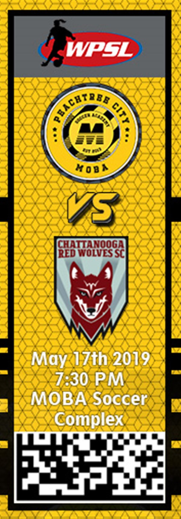 Get Information and buy tickets to PTC MOBA vs. Chattanooga Red Wolves WPSL on MOBA Soccer Academy