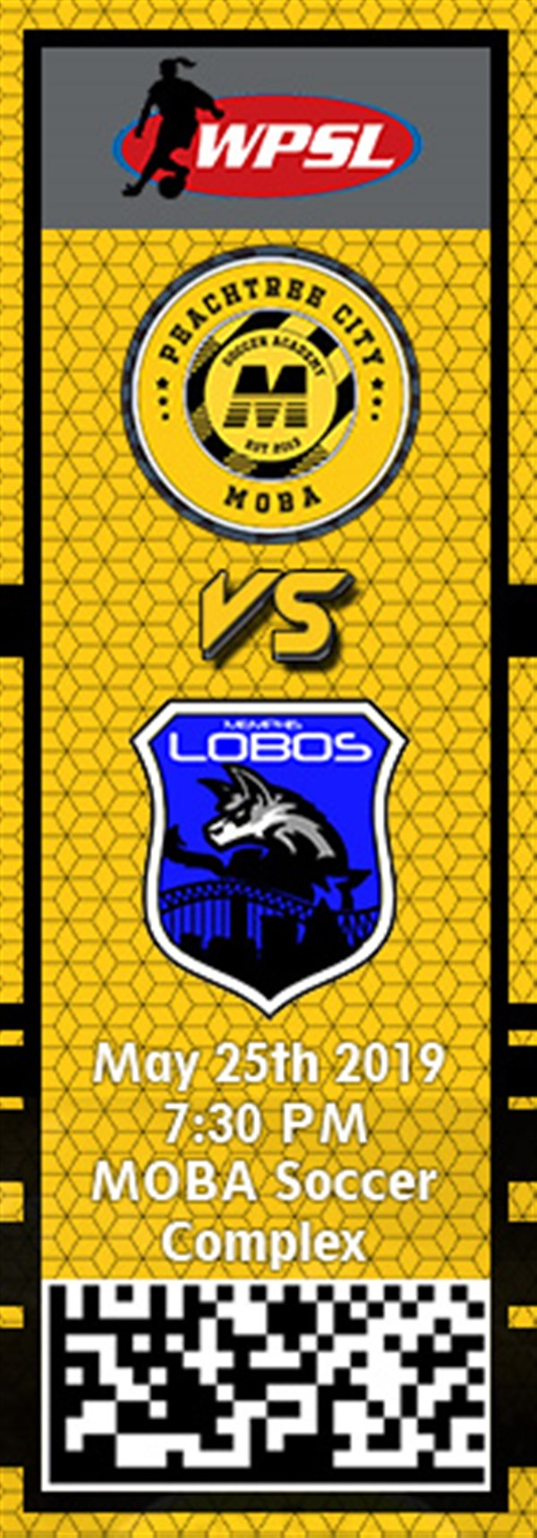 Get Information and buy tickets to PTC MOBA vs. Memphis Lobos WPSL on MOBA Soccer Academy