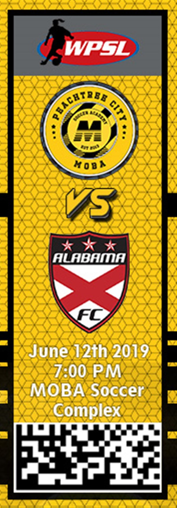 Get Information and buy tickets to PTC MOBA vs. Alabama FC WPSL on MOBA Soccer Academy