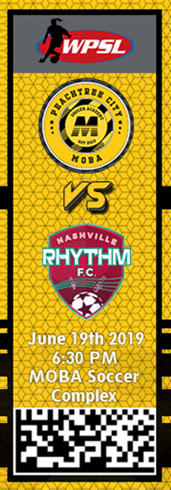 Get Information and buy tickets to PTC MOBA vs. Nashville Rhythm WPSL on MOBA Soccer Academy