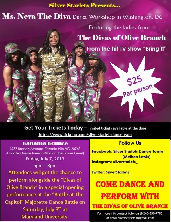 Get Information and buy tickets to Online sale has ended - $30 pay at the door. Majorette Dance Workshop. Neva and her Divas Workshop on Battle At The Capitol