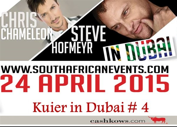 Get Information and buy tickets to Steve Hofmeyr and Chris Chameleon in Dubai  on South African Events Pty Ltd