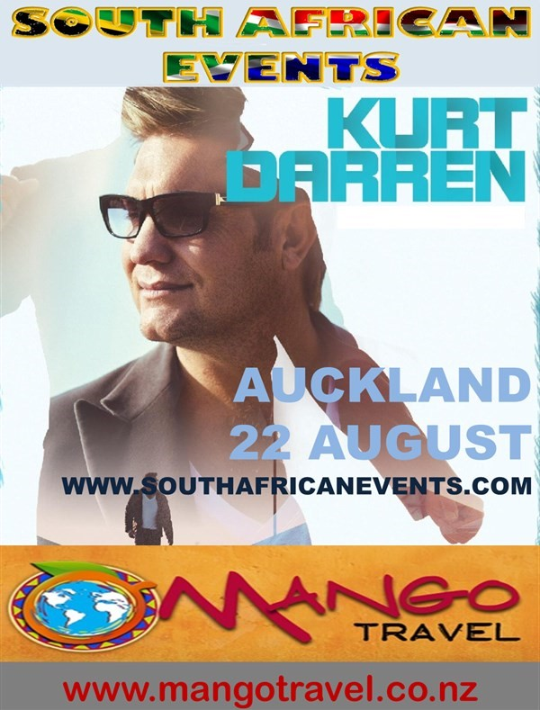Get Information and buy tickets to Kurt Darren in Forrest Hill (Auckland North)  on South African Events Pty Ltd