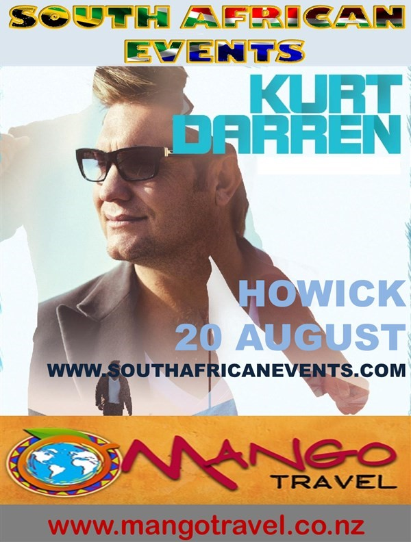 Get Information and buy tickets to Kurt Darren in Panmure (Auckland South)  on South African Events Pty Ltd