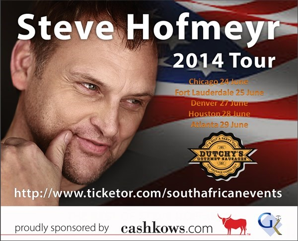 Get Information and buy tickets to Steve Hofmeyr in Fort Lauderdale  on South African Events Pty Ltd