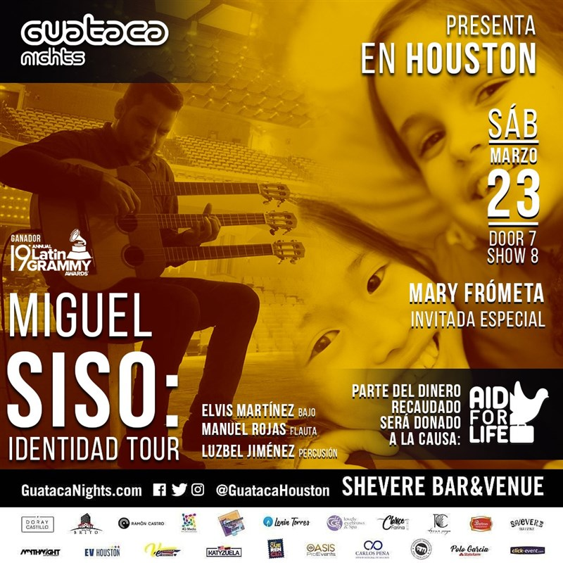 Get Information and buy tickets to Miguel Siso tour IDENTIDAD. Katy Tx Vip 35 - Reg $25 on www.click-event.com