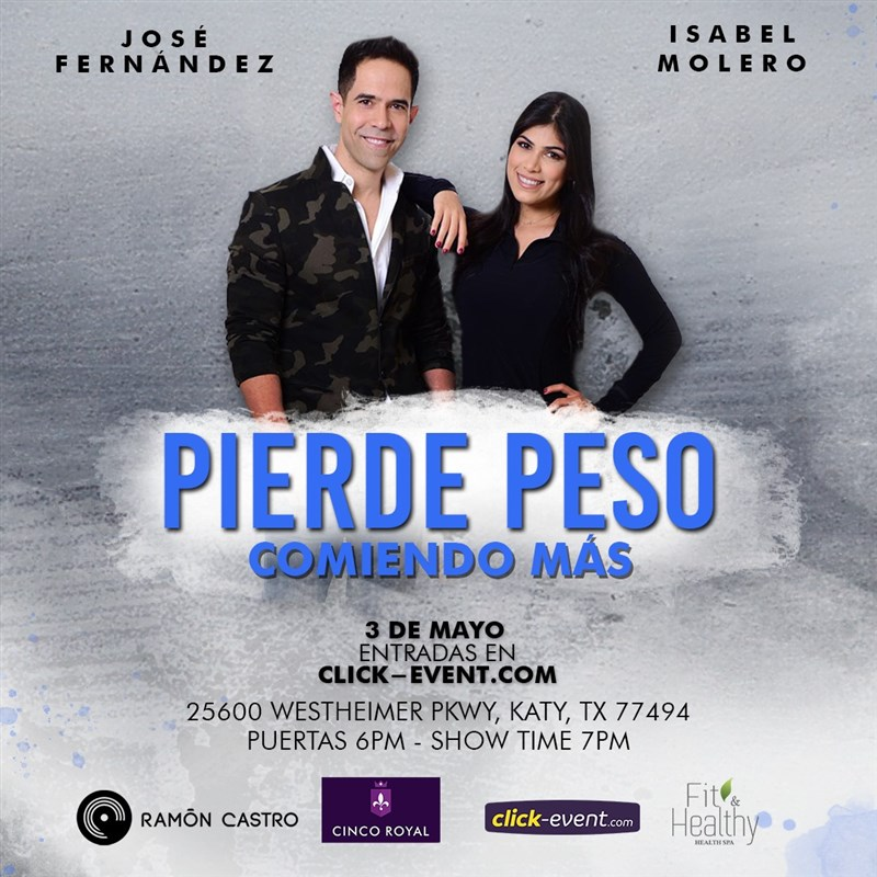 Get Information and buy tickets to Pierda Peso Comiendo Mas Reg $20 - Vip $35 - Vip Plus $60 on www.click-event.com