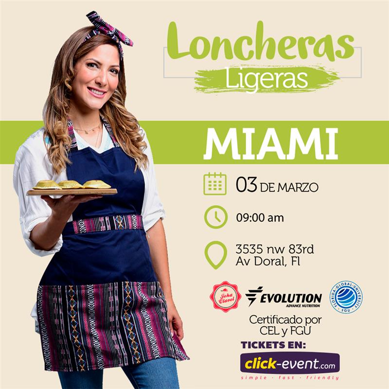 Get Information and buy tickets to Loncheras Ligeras - Miami Preventa Reg $47 (hasta Febrero 27) on www.click-event.com