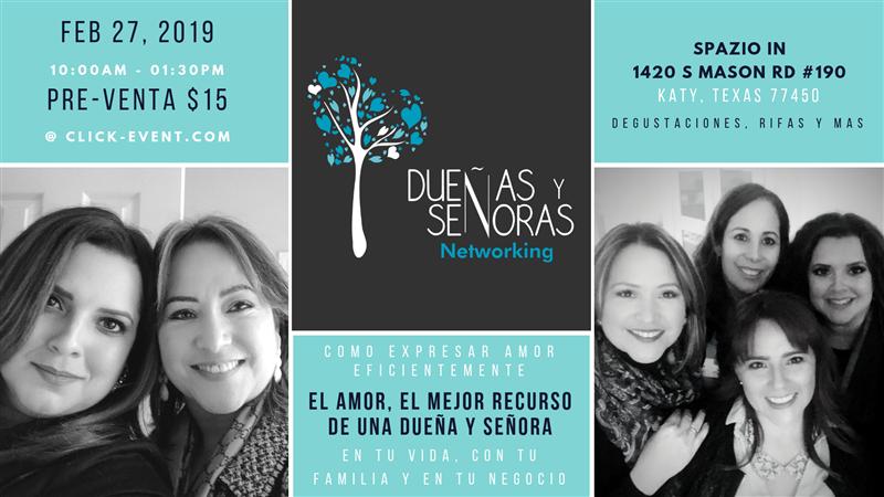 Get Information and buy tickets to Dueñas y Señoras Networking AMOR, EL MEJOR RECURSO DE UNA DUEÑA Y SEÑORA on www.click-event.com