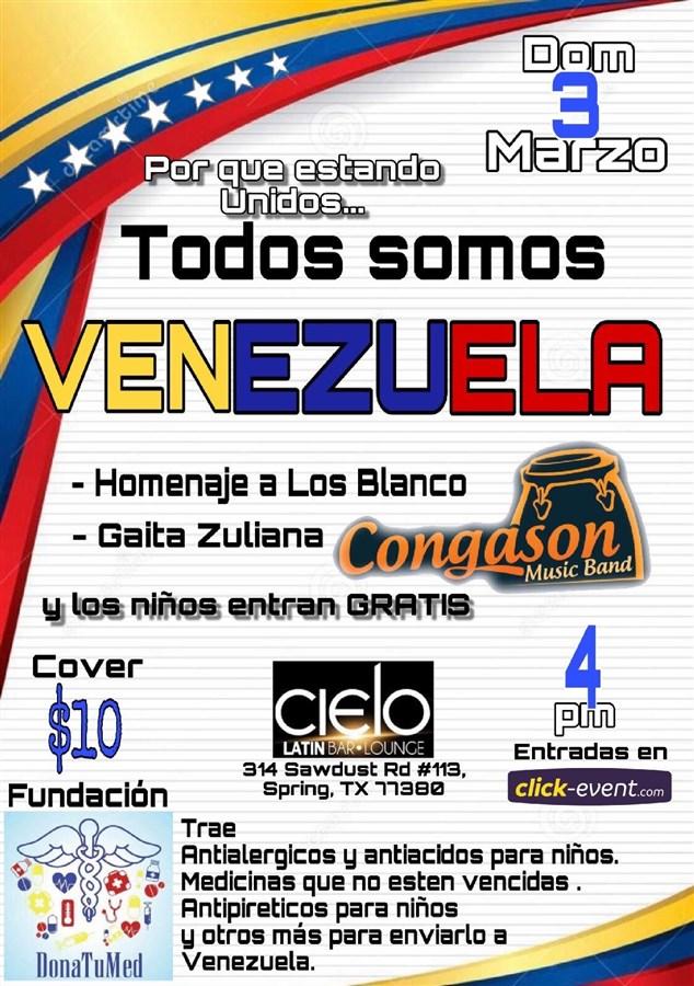 Get Information and buy tickets to Todos Somos Venezuela Reg $10 on www.click-event.com