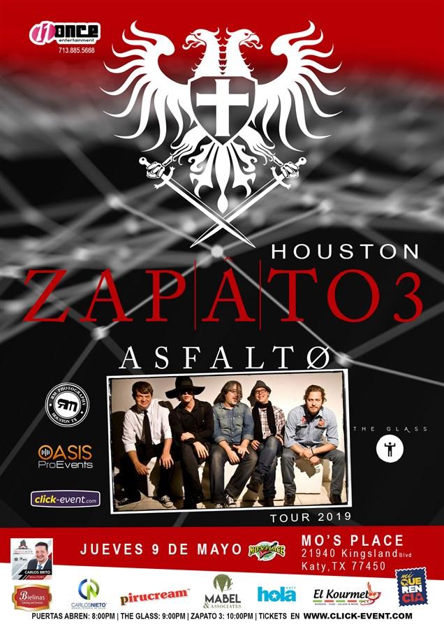 Get Information and buy tickets to Asfalto ZAPATO 3 Tour 2019 Preventa inicia el 9 de Marzo $30 (por pocos dias) on www.click-event.com
