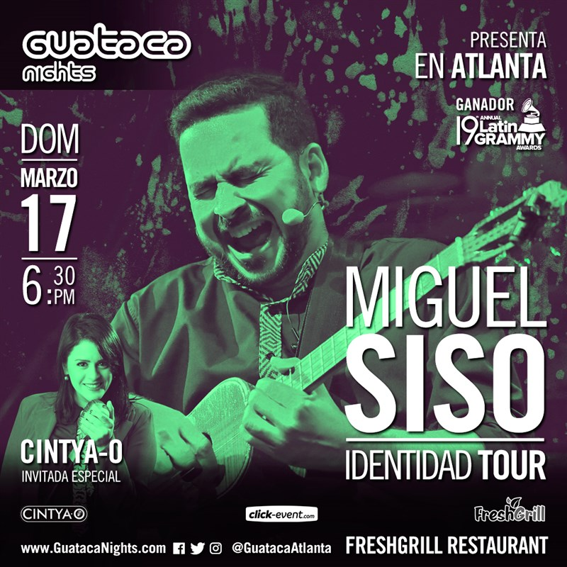 Get Information and buy tickets to Miguel Siso tour IDENTIDAD. Reg $15 Atlanta Ga on www.click-event.com
