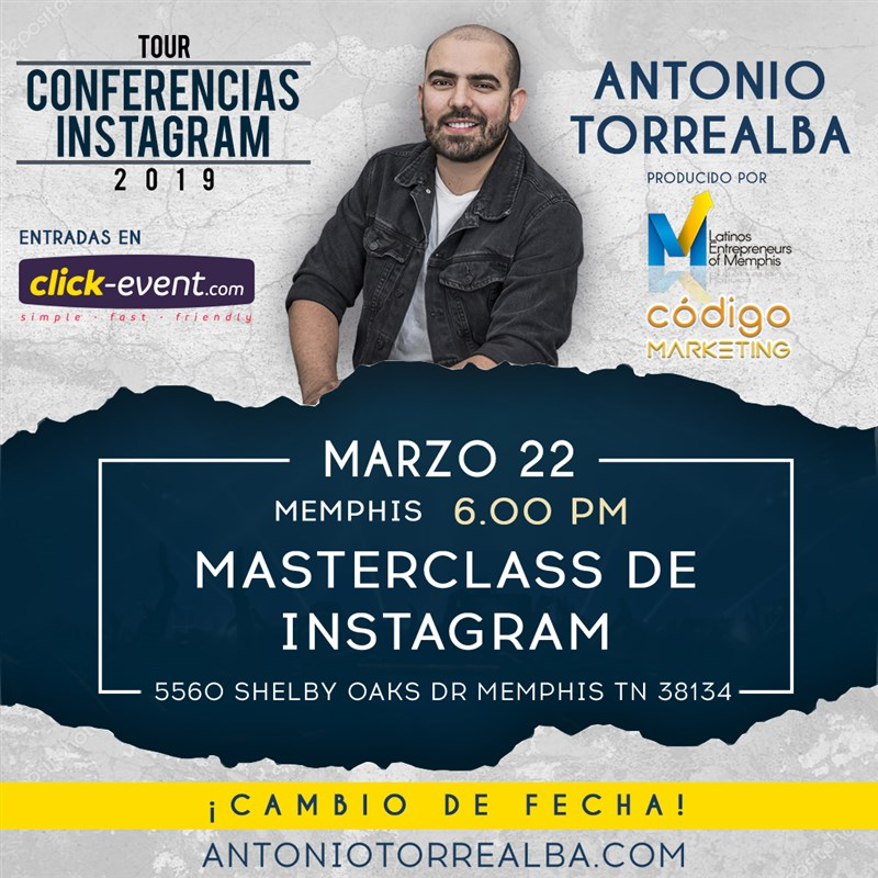 Get Information and buy tickets to Masterclass de Instagram RSVP on www.click-event.com
