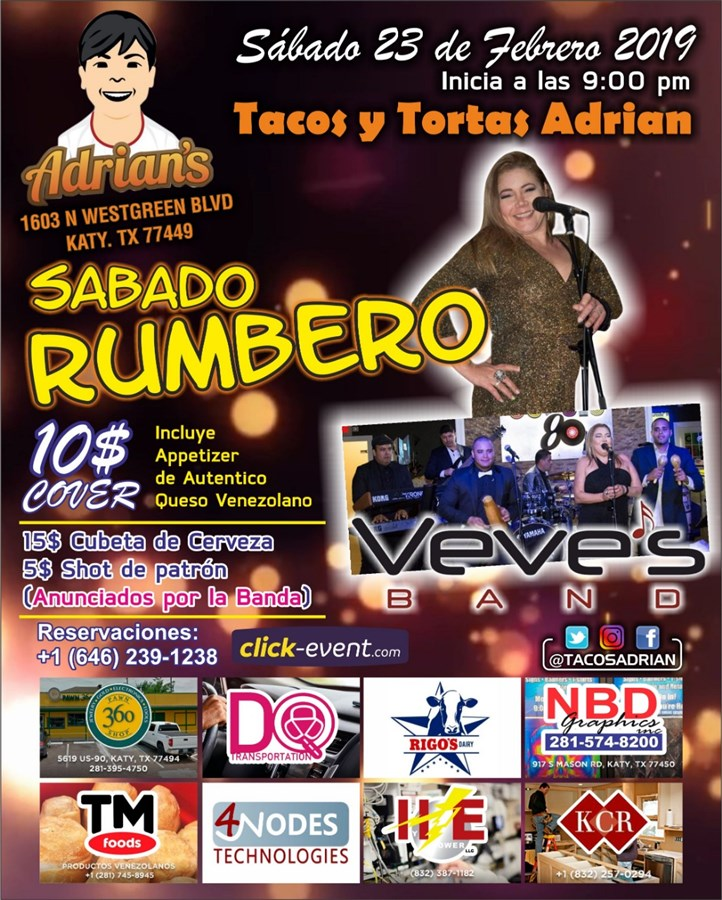 Get Information and buy tickets to Sábado Rumbero Reg $10 on www.click-event.com