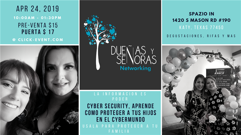 Get Information and buy tickets to Dueñas y Señoras Networking CYBER SECURITY, APRENDE COMO PROTEGER A TUS HIJOS on www.click-event.com