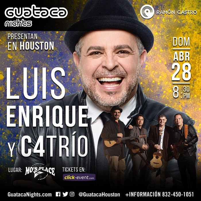 Get Information and buy tickets to Luis Enrique y C4Trio Stand-up $30 - Reg $40 - Vip $70 on www.click-event.com