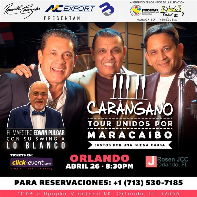 Get Information and buy tickets to Carangano - Tour Unidos por Maracaibo - Orlando Reg $40 - Vip $60 on www.click-event.com