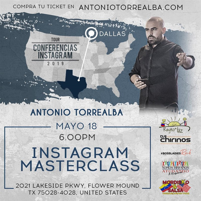 Get Information and buy tickets to Conferencias Instagram - Antonio Torrealba - DALLAS Reg $45 on www.click-event.com