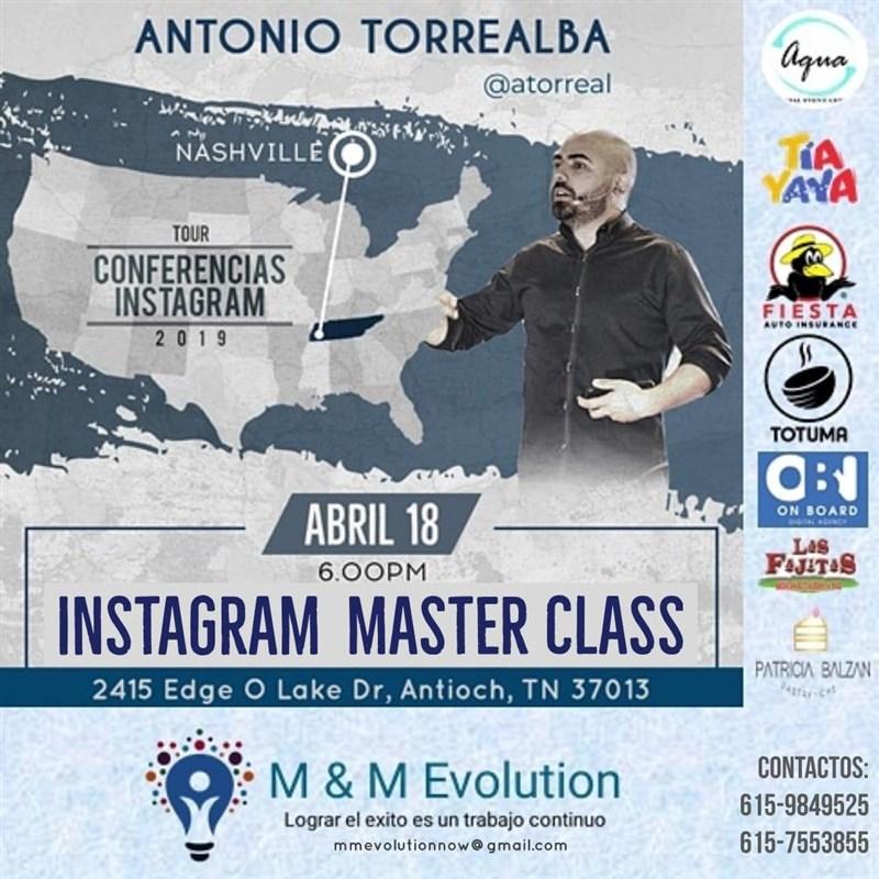 Get Information and buy tickets to Instagram Master Class con Antonio Torrealba - NASHVILLE Reg $45 on www.click-event.com