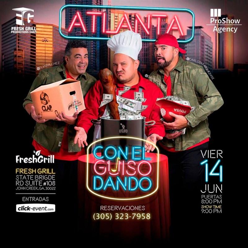 Get Information and buy tickets to Con el Guiso Dando - ATLANTA Reg $30 - Vip $40 on www.click-event.com