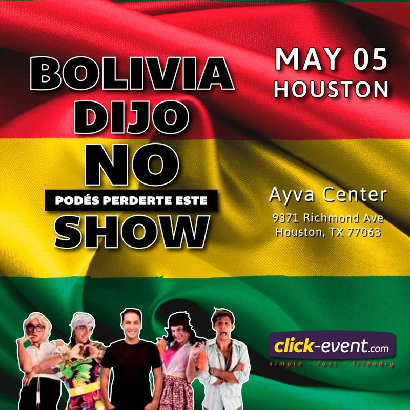 Get Information and buy tickets to Pablo Fernandez #Boliviadijonotepodesperderesteshow Reg $50 on www.click-event.com