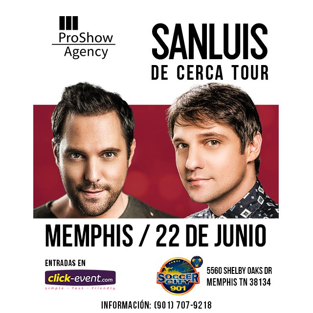 Get Information and buy tickets to San Luis - Memphis Reg $35 - Vip $50 on www.click-event.com