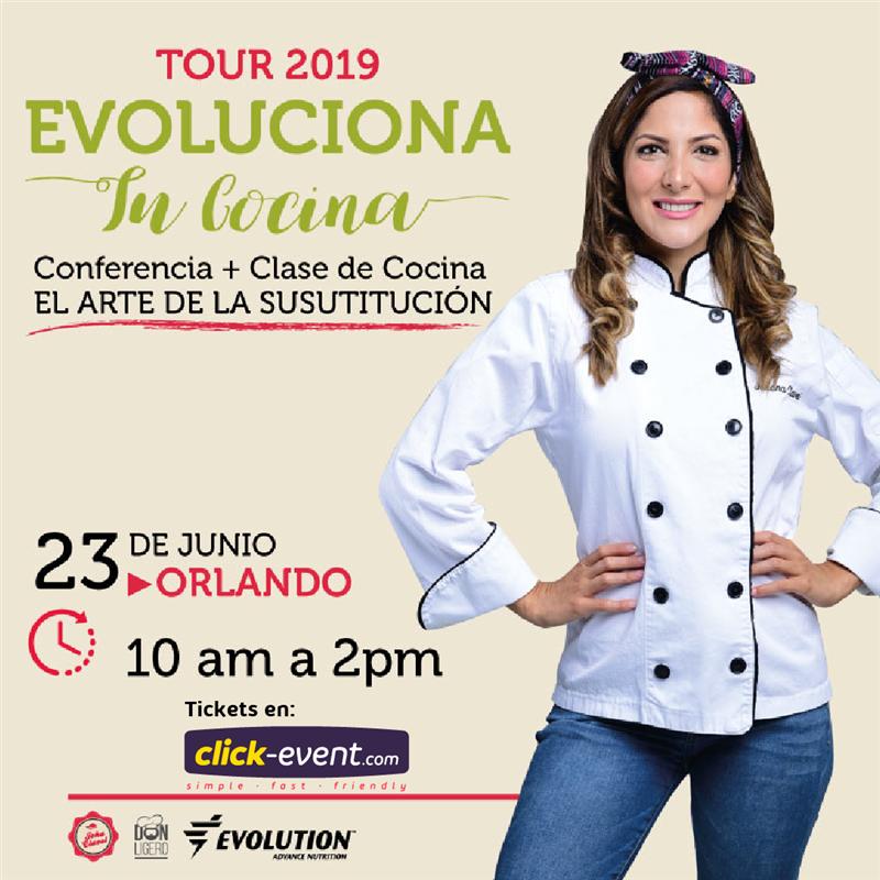 Get Information and buy tickets to Evoluciona tu cocina - Joha Clavel - Orlando Reg $85 on www.click-event.com