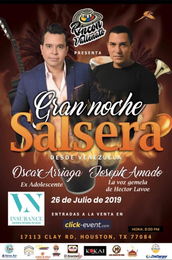 Get Information and buy tickets to Gran Noche Salsera Reg $25 - Vip $40 on www.click-event.com