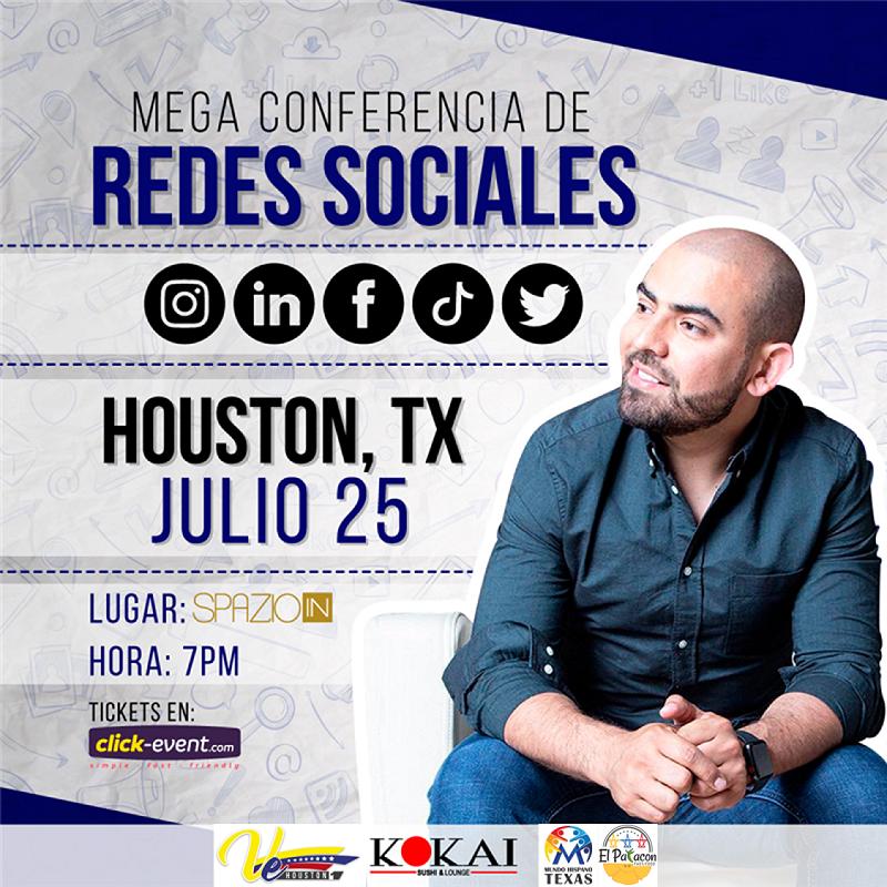 Get Information and buy tickets to Mega Conferencia Redes Sociales - Antonio Torrealba Reg $45 - Preventa limitada $40 - Houston TX on www.click-event.com