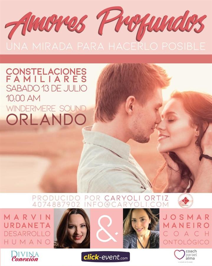 """Get Information and buy tickets to """"Amores Profundos"""" Una mirada para hacerlo posible - Orlando Reg $33 on www.click-event.com"""