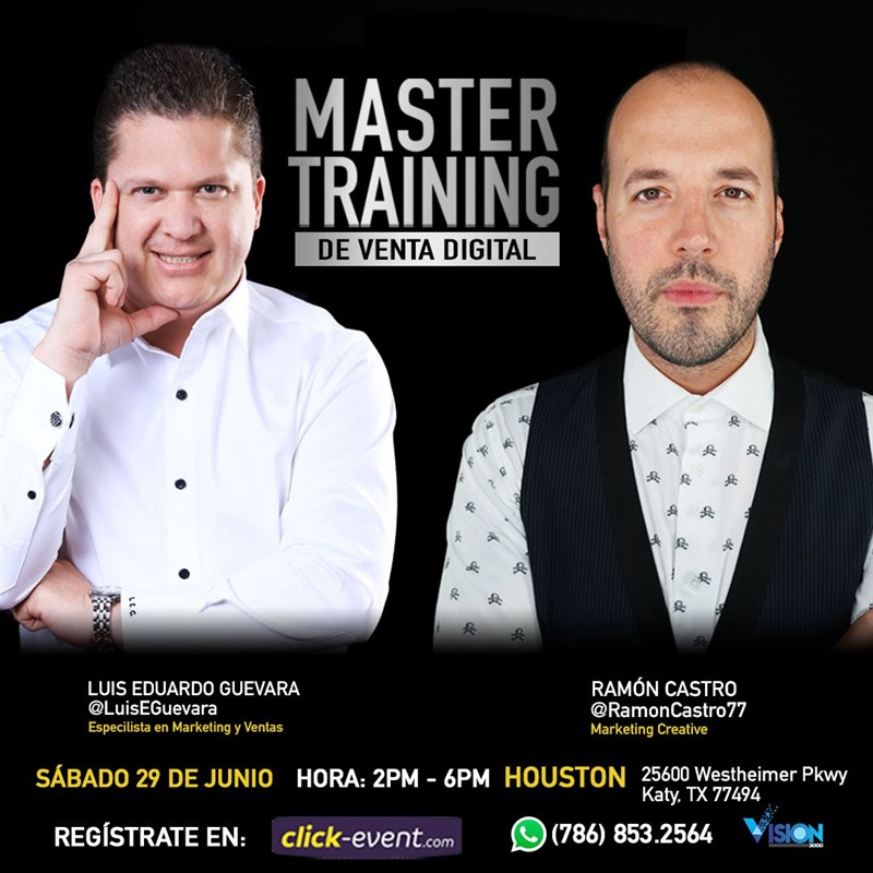 Get Information and buy tickets to Master Training de Venta Digital RSVP on www.click-event.com